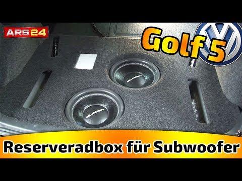 Reserveradbox für Subwoofer im Kofferraum selber bauen! || Tutorial || ARS24.com