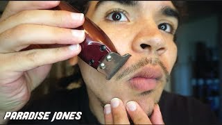HOW TO TRIM YOUR OWN MUSTACHE AND GOATEE   AT HOME