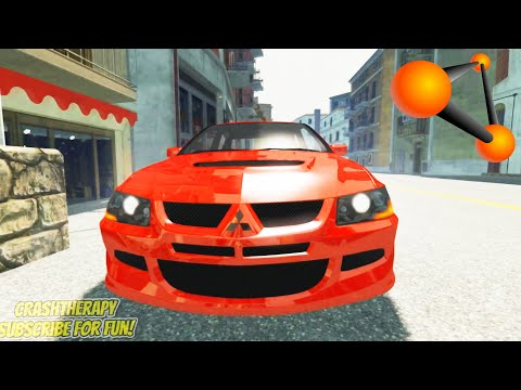 Extremely Dangerous Street Driving - BeamNG Drive   CrashTherapy