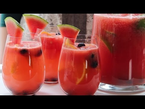 Video Cocktail Recipes - How to Make Watermelon Sangria