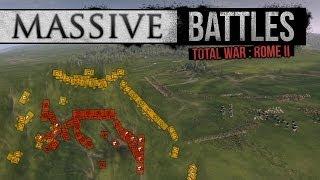 Total War: Rome II - EPIC AS FUCK: 3v3 (Massive Battles)