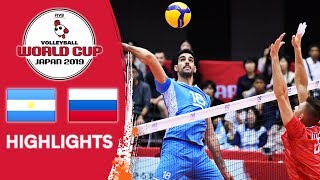 ARGENTINA vs. RUSSIA - Highlights | Men's Volleyball World Cup 2019