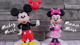 Mickey Mouse and Minni Mouse Cake Topper Tutorial