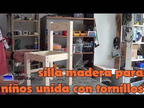 Cómo hacer sillas de madera para niños con tornillos. 1/2