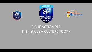 P.E.F CULTURE FOOT saison 2020-2021