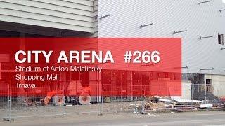 preview picture of video 'CITY ARENA - (266) Mozaika a zasklievanie prvých výkladov Obchodného Centra ( Mosaic and glazing...)'