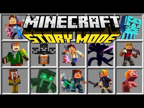 Minecraft STORY MODE MOD | WITHER STORM, JESSIE, SKY DIMENSION, & MORE!!