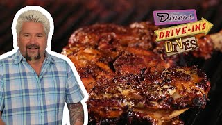 Guy Fieri Eats Jamaican Jerk Chicken | Diners, Drive-Ins And Dives