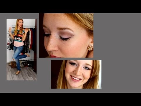 GET READY WITH ME - Casual Outfit & Make up - Erstes Video