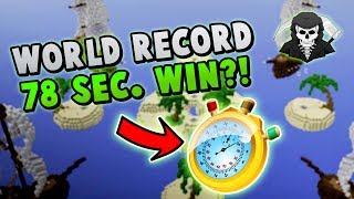 WORLD'S FASTEST WIN! ( 78 SECONDS!!!! ) [World Record Bed Wars 4s]