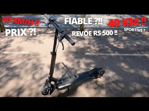 REVIEW DE LA REVOE RS 500 !! Trottinette électrique légale mais facilement débridable !!