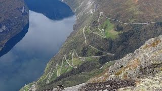 Norge Eagle Road Mountain route 63 to Geiranger Norway