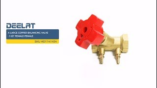 X-Large Copper Balancing Valve - 1-1/2