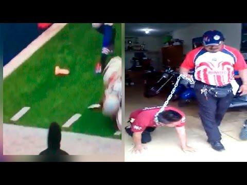 Americanista paga apuesta como perro y Dildo en la NFL | Cruda News