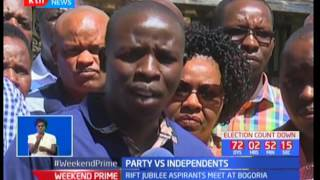 Jubilee holds closed door meetings to strategise on how to deal with Independent Candidates