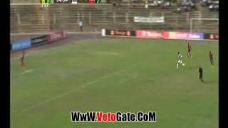"""""""كوليبالى"""" يهدر فرصه الهدف الثالث امام مرمى القطن الكاميرونى"""