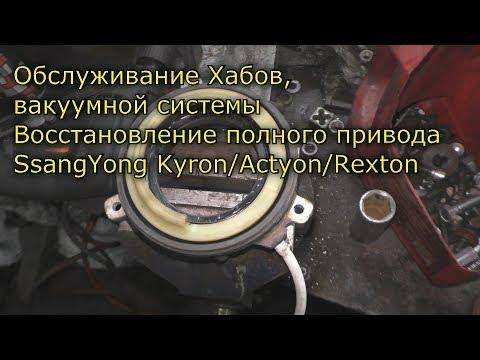 Обслуживание Хабов, вакуумной системы Восстановление полного привода SsangYong Kyron/Actyon/Rexton