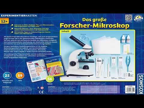 KOSMOS 636029 Das große Forscher Mikroskop Test 2017