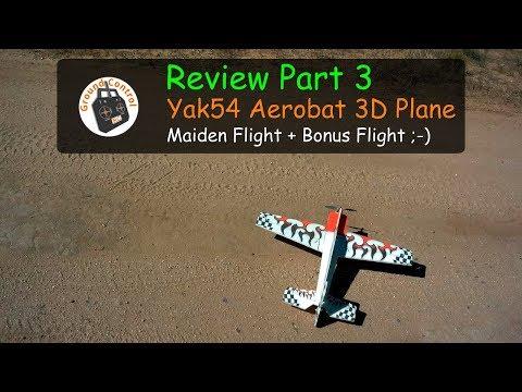 Review Part 3 - Yak54 Aerobat EPP 800mm Wingspan 3D Plane - Maiden Flight + 1