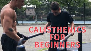 CALISTHENICS FOR BEGINNERS | HOW TO START BODYWEIGHT TRAINING | FULL BODY WORKOUT WITH PROGRESSIONS