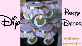 DIY Party Decor | Baby Food Jars