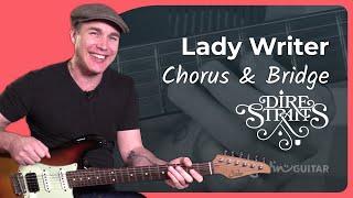 Lady Writer - Dire Straits [CHORUS & BRIDGE] 3of4 - Mark Knopfler Guitar Lesson Tutorial (ST-363)