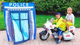 Vlad and Nikita Pretend Play Police