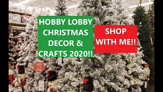 HOBBY LOBBY CHRISTMAS DECOR & CRAFTS 2020! SHOP WITH ME!!