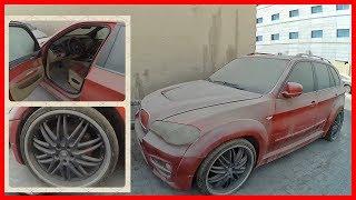 Abandoned BMW X5 Lumma CLR X530. Luxury Bmw E70. Abandoned in Dubai