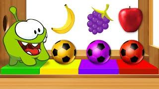 Impara i colori e numeri   Om Nom e Xilofono con frutti   Video di apprendimento