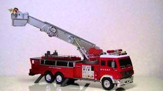 ヤフーショッピングで買った童友社 大型RCシリーズ 1/18 ファイアーエンジン はしご消防車