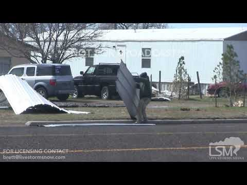 Wind blows over Semi-Truck in Amarillo, Texas