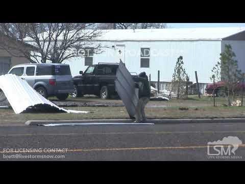 Wind blows over Semi-Truck in Amarillo, Texas