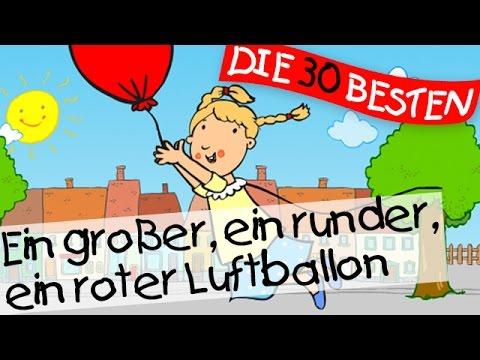 Ein großer, ein runder, ein roter Luftballon - Bewegungslieder zum Mitsingen || Kinderlieder