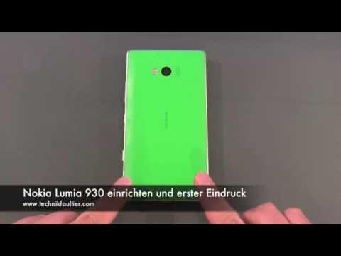 Nokia Lumia 930 einrichten und erster Eindruck