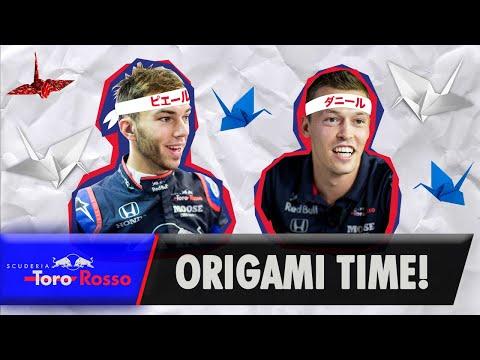 Pierre Gasly & Daniil Kvyat's Origami Lesson