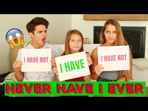 Download NEVER HAVE I EVER w/ Little Sister and Cousin! | Brent Rivera HD Mp4 3GP Video and MP3