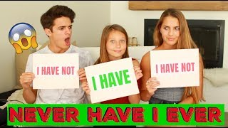 NEVER HAVE I EVER W Little Sister And Cousin! | Brent Rivera