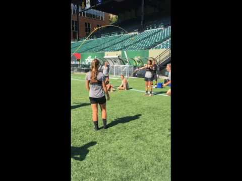 Video Spirit players try Double Dutch in Portland
