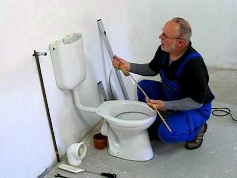 Stand - WC und Spülkasten  Montage  Teil 1