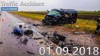 Подборка аварий и дорожных происшествий за 01.09.2018 (ДТП, Аварии, ЧП)