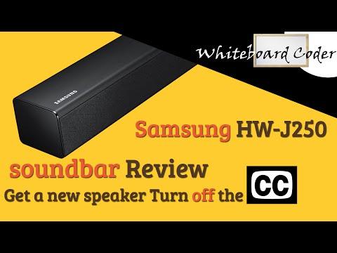 Samsung HW-J250 soundbar Review