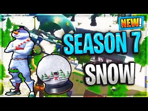 New Fortnite Season 7 Leaks And Rumours Snow Map Fortnite Battle