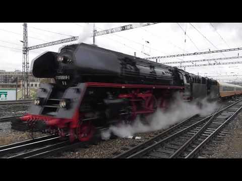 Železnice - Parní lokomotiva 01 0509 v Praze