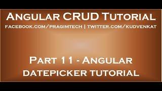 Angular datepicker tutorial
