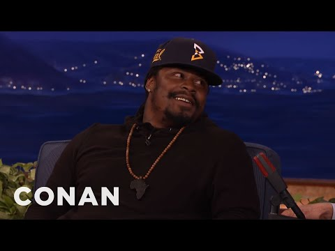 """Marshawn Lynch: The NFL Hated When I Grabbed My """"Ding-Ding Sauce""""  - CONAN on TBS"""