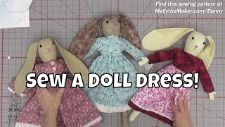 Sew Ms. Bunnys Doll Dress - Sewing Tutorial With Leah Day