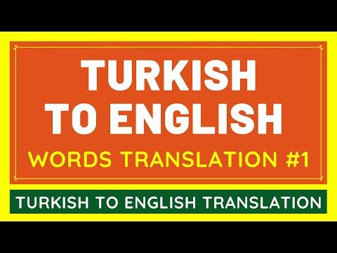 Turkish To English Google Translation BASIC WORDS #1 | Translate Turkish Language To English