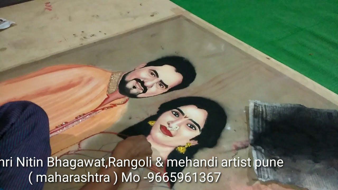 beautiful wedding portrait rangoli art by rajashri junnarkar bhagawat