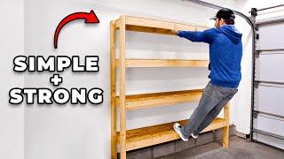 Super Efficient 2x4 Garage Shelves | DIY Garage Storage